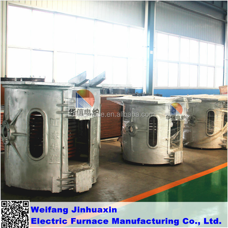 0,25T Reduction Gear Melting Iron Induction Furnace