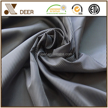OEM Fashion Black And White Polyester Stripe Fabric For Men's Suit