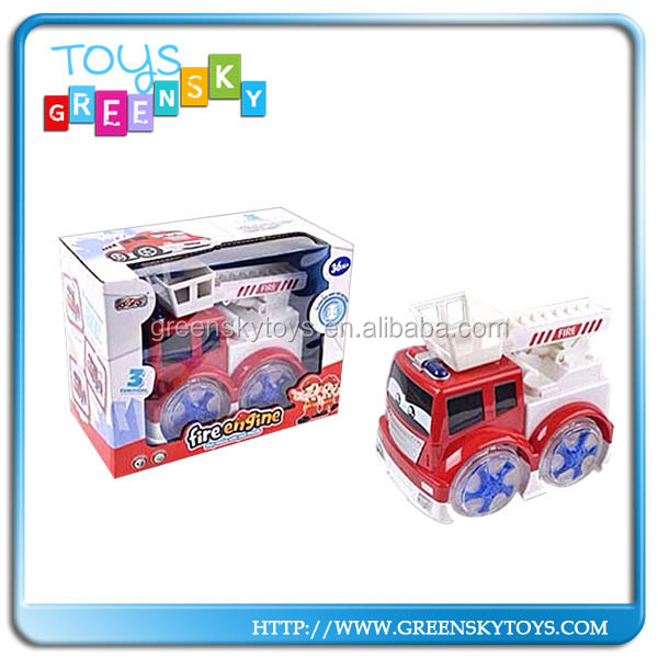 Battery Operated light music fire truck toys car,fire fighting toys