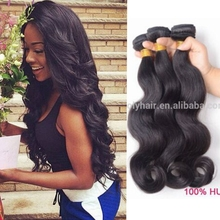 Large stock good quality natural color 100% virgin indian remi temple hair