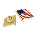 USA Souvenirs Custom Metal Flag Pin Enamel American Flag Lapel Pin