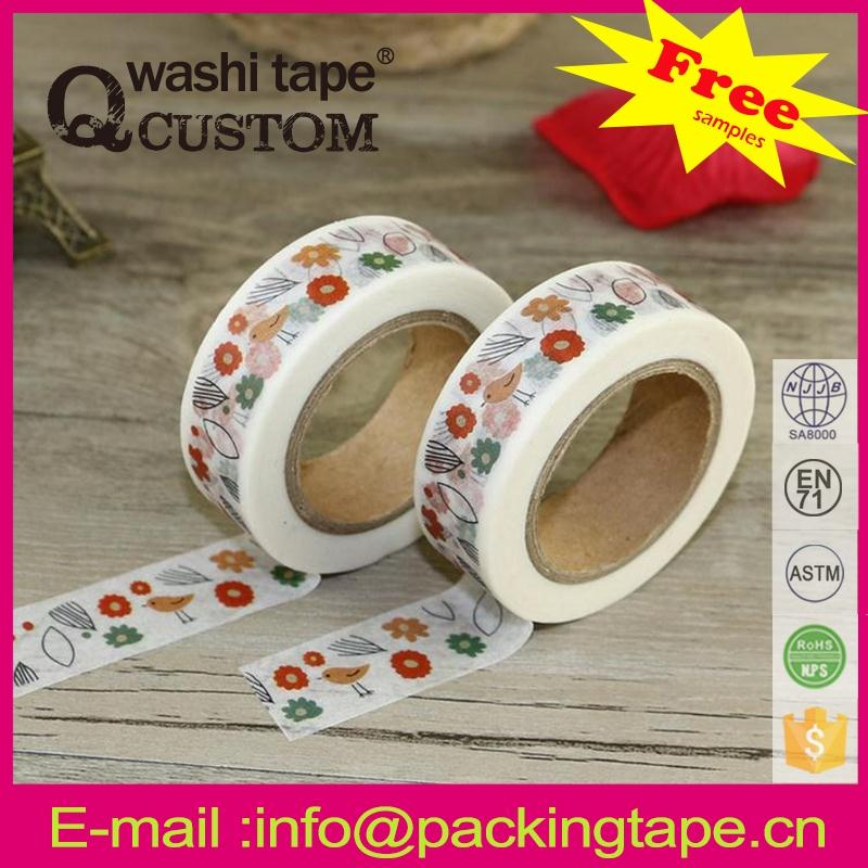 Qcustom washi paper tape wall art from factory