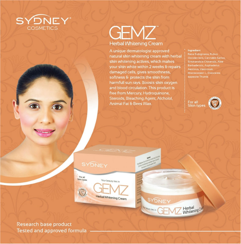 Gemz Herbal Creams - Anti-acne, Anti-wrinkle, Whitening, Hair Removing Creams