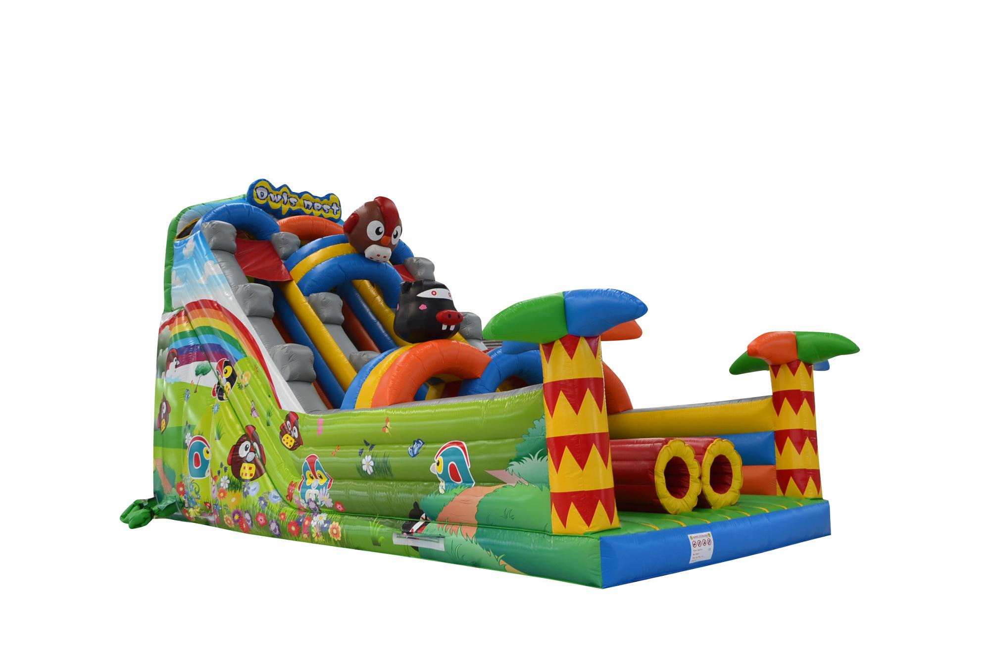 Popular bouncer slide giant inflatable slide for sale