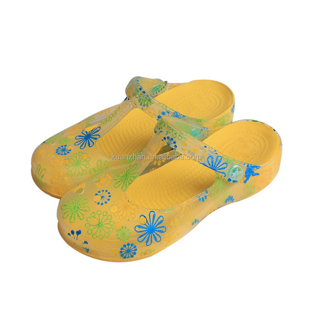 hot 2015 hole summer shoes/pvc air blow slipper