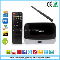 Roofull trending hot products the newest smart tv box , HD free IPTV, android tv box CS918 from shenzhen factory