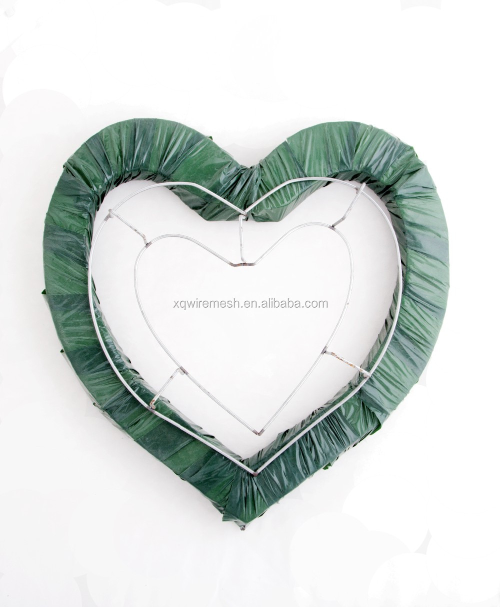hot sell double ring metal wire wreath