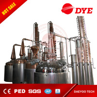 3000L Vodka Still Equipment for sale/ steam heating/ with stripping and rectifying distillation column