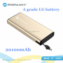 Pivoful high capacity Power Bank with magentic charging cables