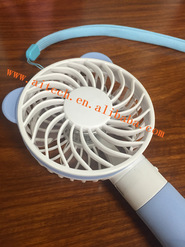 Summer Cute Mini USB Fan Rechargeable Handheld Fan Portable Silent Industrial Fan