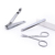 Professional Tweezer Scissors Clipper 3pcs Silvery Stainless Steel Manicure Set