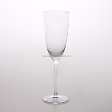 Popular Design Handmade High Quality Glassware Hand cut Champagne or Flute Glass with stem