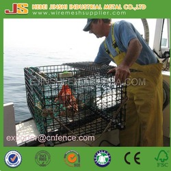 Customized Commercial Welded lobster Traps, Yellow Color Coated Metal Crab Trap