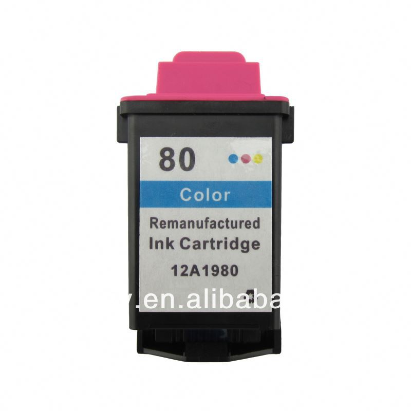 recycled ink cartridge for Lex 80 12A1980
