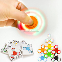2017 Hot Sale Products Fidget Spinner LED Light Hand Spinner Triangle Ceramic Bearing Finger Gyro Flashing Toy