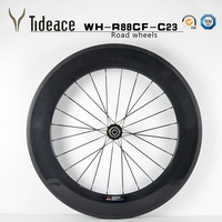 2013 newest 700C full carbon bicycle wheels racing bike wheels,full carbon fiber cycling wheelset/88mm carbon wheels