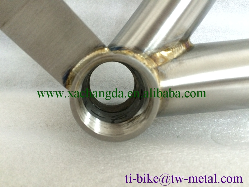 XACD Titanium Fat bicycle frame with taper head tube super light Titanium snow bike frame with PM brake Customer Ti bike frame