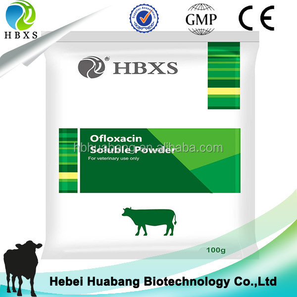 Ofloxacin Soluble Powder Antibiotic for Beef Cattle Non-Lactating Dairy Cattle and Swine