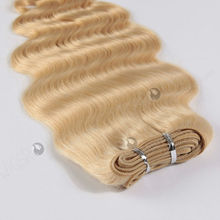 white women high quality body wave 613# pre bleached blonde virgin malaysian hair weave wholesale