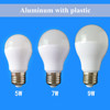 2015 china factory wholesale Aluminum and plastic intertek lighting bulb for lamp