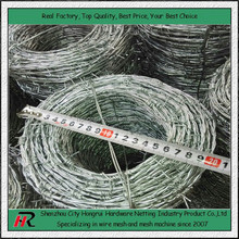 Wholesale cheap high quality galvanized/PVC barbed wire philippines roll fencing prices 10-25kg/roll(Hongrui manufacturer)
