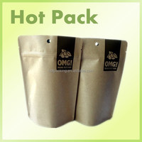 kraft paper ziplock bag for snack food / empty tea bag biodegradable