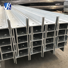 Galvanized slotted fabricated steel beam retaining wall h post