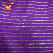 China manufacturers gold stripe polyester material satin fabric on sale