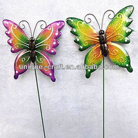 Butterfly garden stakes wholesale high quanlity garden decoration ornaments decorative metal stick