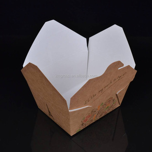Disposable Custom Food Kraft Food Packaging Paper Box