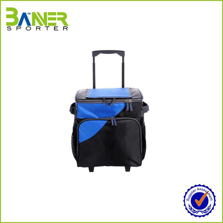 Wholesale foldable travel trolley bag/ luggage protective cover/vegetable shopping trolley bag