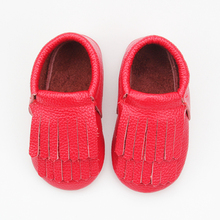 Link Wholesale Girls Shoes Tassel Leather Baby Red Bottom Shoes