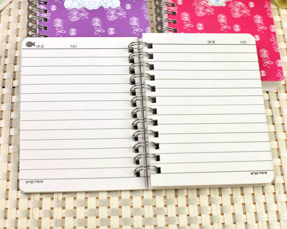 small notebook with lined spiral notebook lined paper stationery