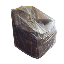 34''x42'' Furniture cover clear plastic bag for moving protection and long term storage