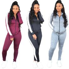 <strong>Sport</strong> blank women slim fit jogging suits