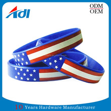 custom cool flag silicon wristband for promotional