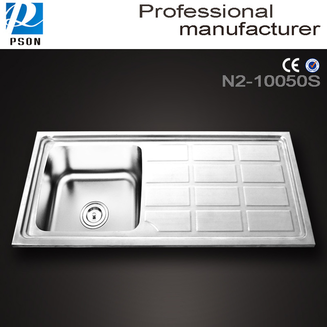 N10050 china Factory produced Stainless steel kitchen sink with Drain Board