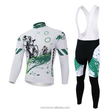 High Performance man and woman custom cycling zipper jersey set