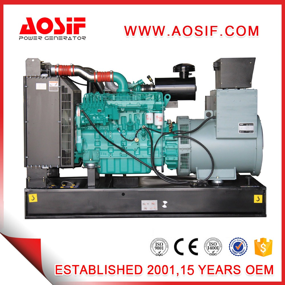 AOSIF AC 200KVA diesel gnerators, electric generators, power generator price list with cummins engine