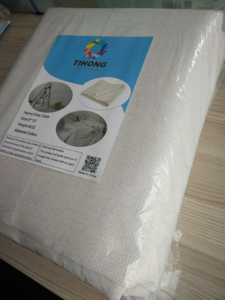 hot sale on amazon 100 cotton canvas drop cloth for painting
