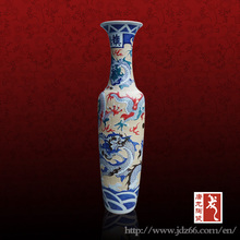 Luxury magnificent ceramic Chinese home decor vases for retail
