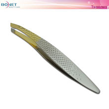 PT01034 Nice Hand is sand -sprayed and gold plated vetus tweezer