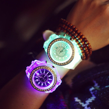 2016 Cute Couple Watch With Diamond Cheap Led Watch For Kids