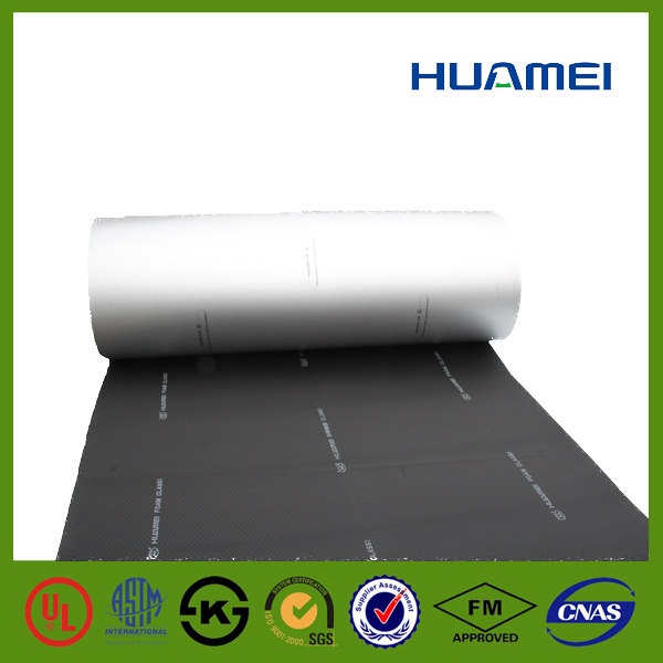 Aluminum foil faced rubber foam insulation