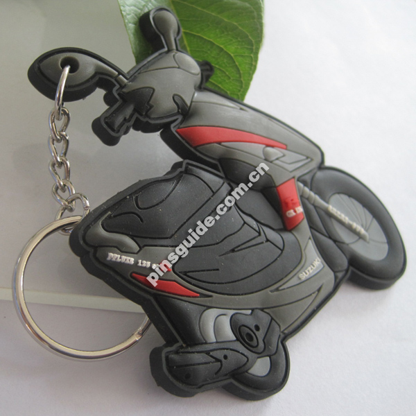 Promotion Gift Custom 3D Rubber Motorcycle Keychain Wholesale
