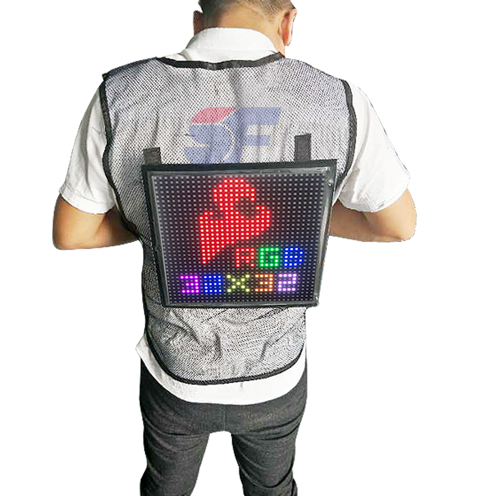 New backpack advertising LED vest display screen led screen display text phone <strong>video</strong>