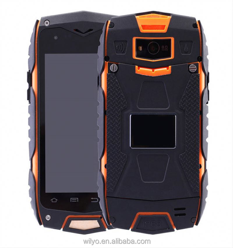 "Rugged phone 4.0"" inches walkie-Talkie waterproof smartphone with GPS 1G+8G Quad Core MTK6582 NFC cell phone"