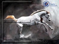 Modern Handmade Horse Animal Sample Picture of Canvas Painting