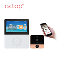 ACTOP battery rechargeable 4.5inch 720P wifi video door phone for home