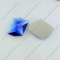 Capri blue color silver foiled back glass stones for fancy jewelry making